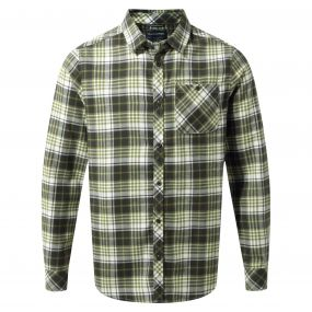 Bjorn Long-Sleeved Check Shirt Dark Khaki