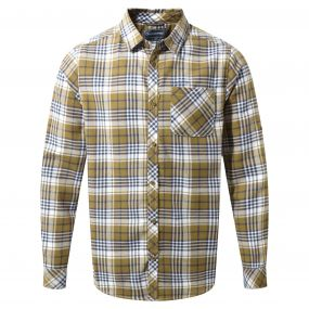 Bjorn Long-Sleeved Check Shirt Dark Sulphur