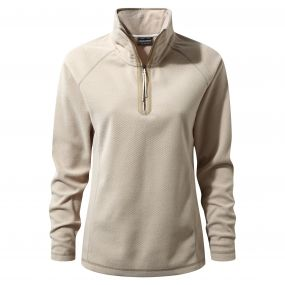 Delia Half-Zip Fleece Sand Dune