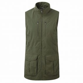 Insect Shield Jiminez Gilet Parka Green