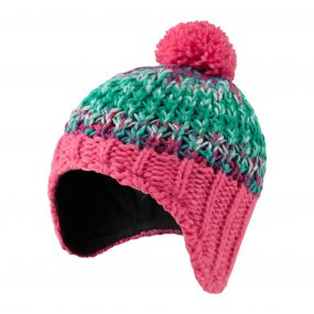 Kids Rainbow Hat Electric pink