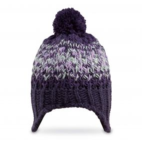 Kids Rainbow Hat Dark Purple Marl