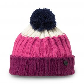 Kids Bobble Hat Azalia Pink Marl