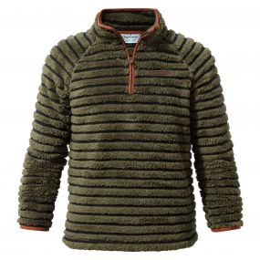 Appleby Half-Zip Fleece Dark Moss Combo