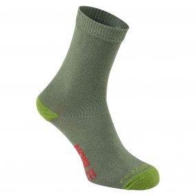 NosiLife Kids Single Travel Socks Dark Khaki