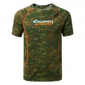 Discovery Adventures Short-Sleeved T-Shirt Dark Moss Combo