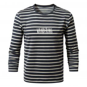 Erna Long-Sleeved Tee Soft Navy Combo