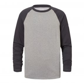 Insect Shield Barnaby Long-Sleeved Tee Soft Grey Marl