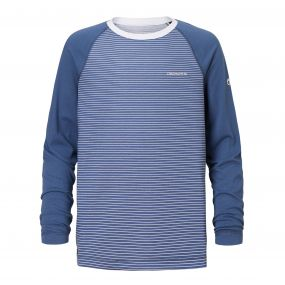 Insect Shield Barnaby Long-Sleeved Tee Soft Denim Stripe