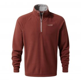 Selby Half-Zip Fleece Red Earth