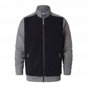 Leathen Jacket Dark Navy / Quarry Marl