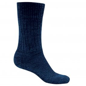 Mens Wool Explorer Sock Dark Navy Marl