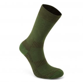 Heat Regulating Travel Socks Lime / Khaki