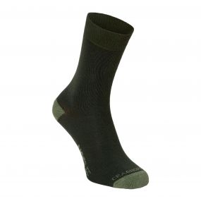 Single Pack NosiLife Travel Socks Parka Green / Dry Grass