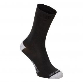 Twin Pack NosiLife Socks Charcoal / Seal Grey Marl