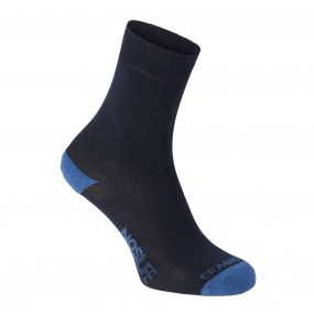 Twin Pack NosiLife Socks Dark Navy / Soft Denim Stripe