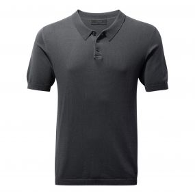 NosiLife Hudson Short-Sleeved Polo Charcoal