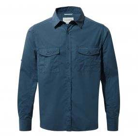 Kiwi Long-Sleeved Shirt Faded Indigo