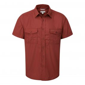 Kiwi Short-Sleeved Shirt     Rust