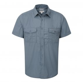 Kiwi Short-Sleeved Shirt Lake Blue