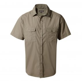 Kiwi Short-Sleeved Shirt Pebble