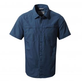 Kiwi Trek Short-Sleeved Shirt Vintage Indigo