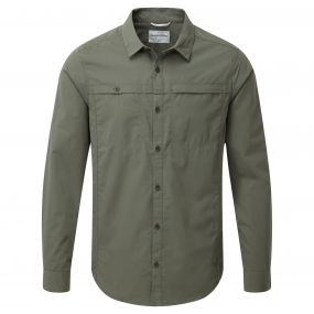 Kiwi Trek Long-Sleeved Shirt Parka Green