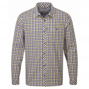 Claude Long Sleeved Shirt Dusk Blue Check