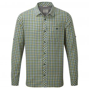 Claude Long Sleeved Shirt Lake Green Check