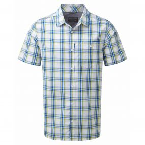 Edgard Short Sleeved Shirt China Blue Check