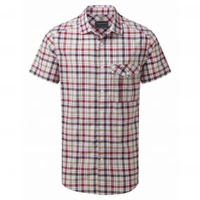 Avery Short-Sleeved Shirt Chesterfield Red