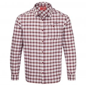 NosiLIfe Tristan Long Sleeved Shirt Brick Red Check