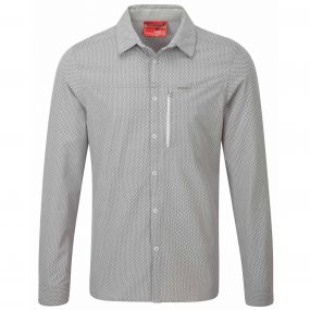 NosiLife Albert Long Sleeved Shirt Light Grey Print