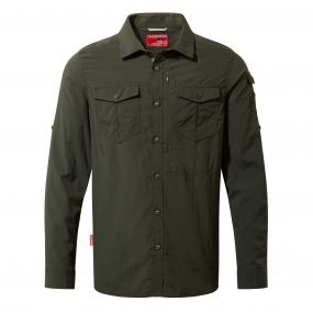 NosiLife Adventure Long-Sleeved Shirt Dark Khaki