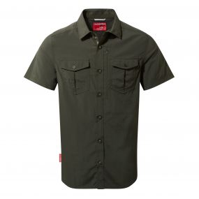 Insect Shield Adventure Short-Sleeved Shirt Dark Khaki