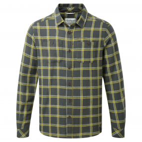 Gillam Long-Sleeved Check Shirt Dark Grey