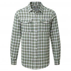 Kiwi Long Sleeved Check Shirt Lake Green