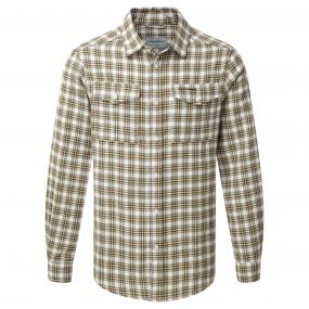 Kiwi Long-Sleeved Check Shirt Espresso Brown