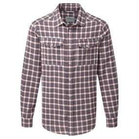 Kiwi Long-Sleeved Check Shirt Oxblood