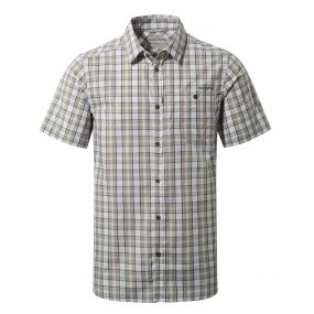 Elmwood Short Sleeved Shirt Quarry Grey Combo