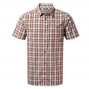 Elmwood Short-Sleeved Shirt Carmine Combo
