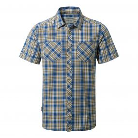 Northbrook Short Sleeved Shirt Deep Blue Combo