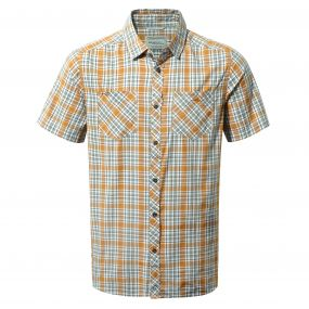 Northbrook Short-Sleeved Shirt Turmeric Combo