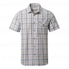Westlake Short-Sleeved Shirt Dark Grey Combo