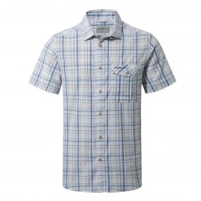 Westlake Short Sleeved Shirt Deep Blue Combo