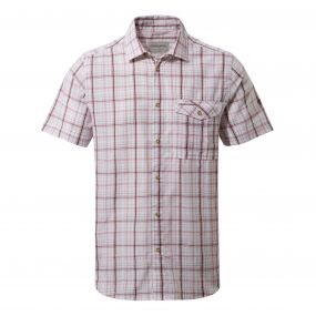 Westlake Short-Sleeved Shirt Oxblood Combo