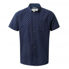 Deacon Short-Sleeved Shirt Night Blue Combo