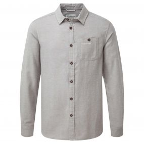 Flint Long Sleeved Shirt Quarry Grey Marl