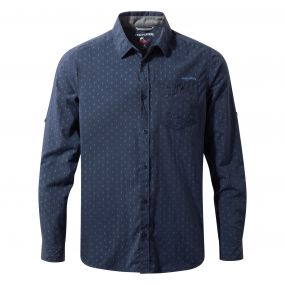 NosiLife Todd Long Sleeved Shirt Night Blue Combo