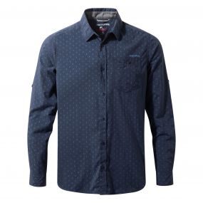 Insect Shield Todd Long Sleeved Shirt Night Blue Combo